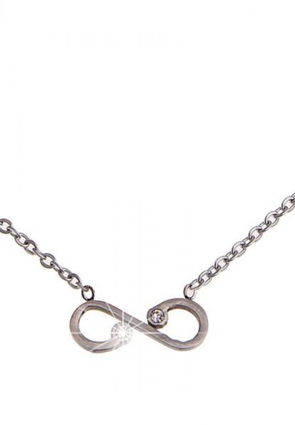 LAST CHANCE! Leslii Kurze Halskette Unendlichkeit in Silber