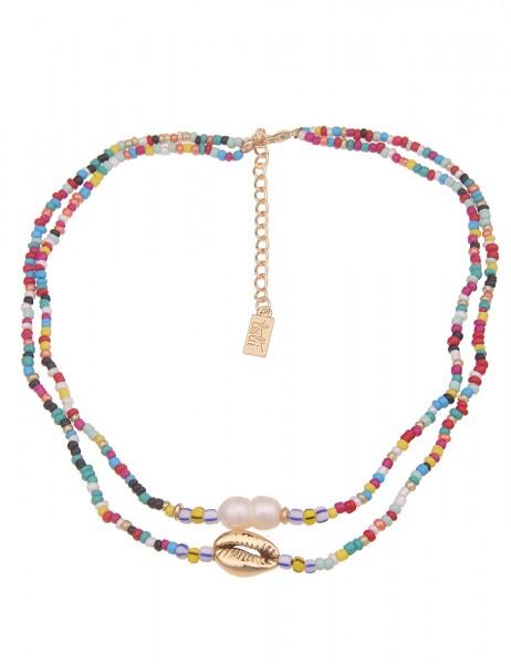 kurze Halskette - 10/multi