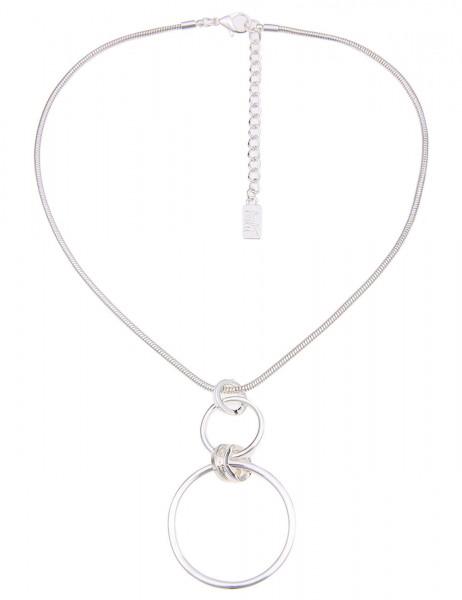 Leslii Damen-Kette Klassik Ring Silber Metalllegierung 41cm + Verlängerung 210115915