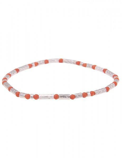 Leslii Damen-Armband zartes Armband Filigran Kugel-Armband silbernes Modeschmuck-Armband in Silber O