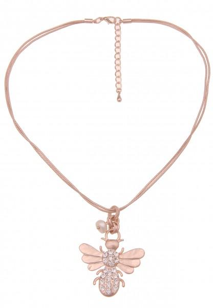 Leslii Damen-Kette Glitzer Wespe Insekt Strass-Kette kurze Halskette Schlangen-Kette Collier Modesch