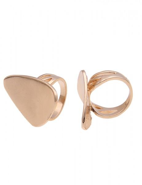 -50% SALE Leslii Damen-Ring Statement Look Gold Metalllegierung Größe 17mm, 18mm oder 19mm 250116763