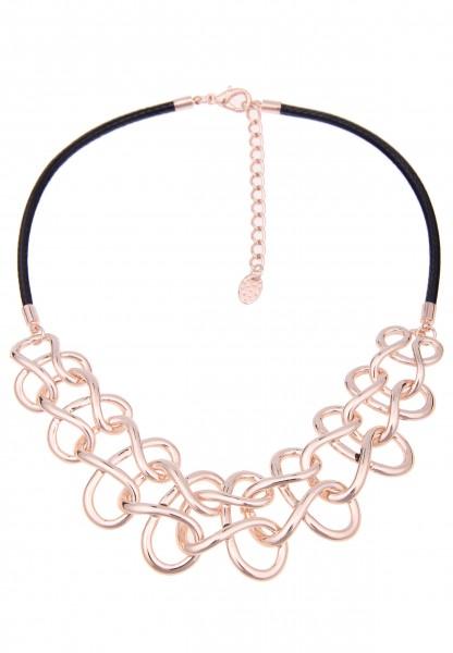 Kurze Halskette Swing Rosé Schwarz