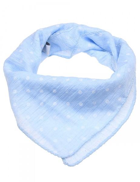 Leslii Damen-Schal Halstuch Punkte Blau Weiß 20% Baumwolle 80% Polyester 60cm x 57cm 900216061