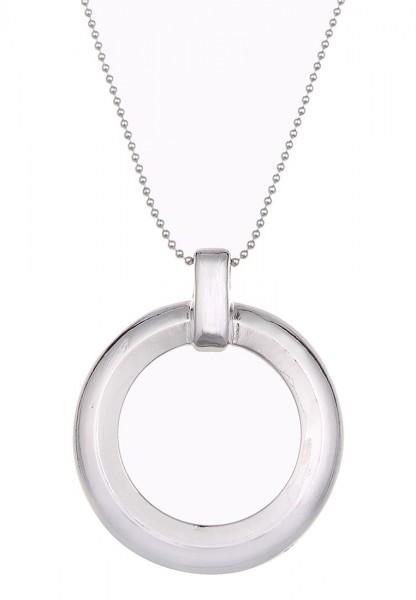 LAST CHANCE Leslii Classic Circle Silber | Trendige lange Kette | Damen Mode-Schmuck | 85cm + Verlän