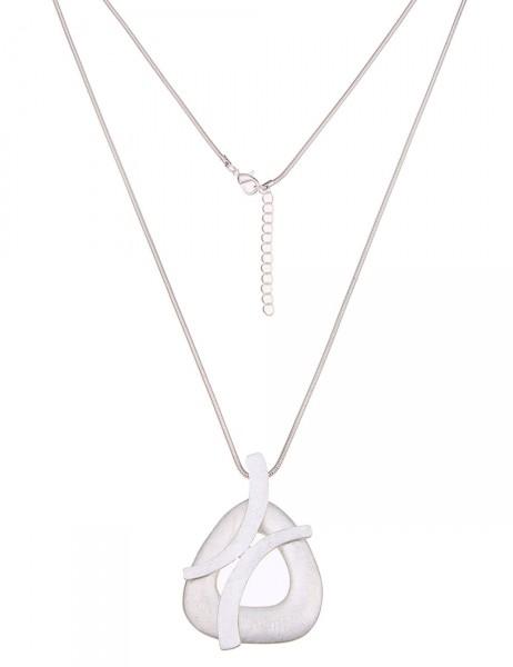 Leslii Damen-Kette Modern Triangle Silber Metalllegierung 84cm + Verlängerung 220116012