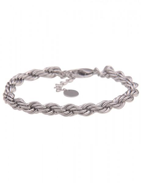 Leslii Damen-Armband Kordel-Armband Kordel-Kette Glieder-Armband gedrehtes Armband silbernes Modesch