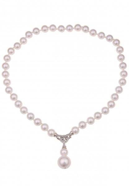 Leslii Damenkette Premium Perlen Collier echte Perlenkette Muschelkern Perlenschmuck Halskette Modes