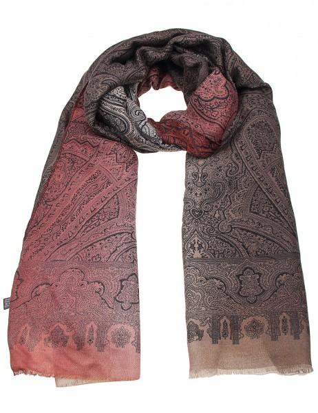 Leslii Damen-Schal Orient Muster 100% Viskose 180cm x 90cm Rot Braun 900117135