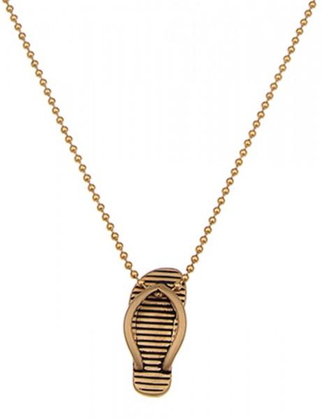 Leslii 4teen Damenkette Flip Flop aus Metalllegierung Länge 70cm in Gold