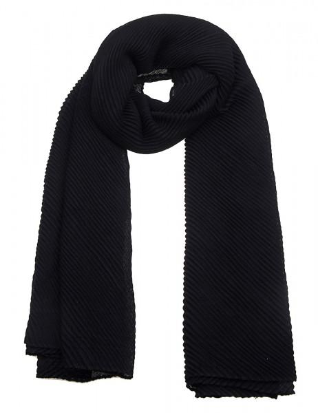 Leslii Damen Schal Uni Plissee aus Polyester mit Viskose Größe 175cm x 90cm in Schwarz 900117818