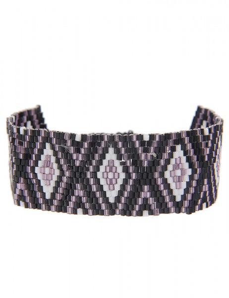Sale Armband Web Muster Raute - 05/lila