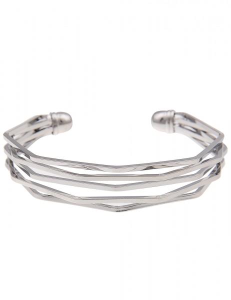 Leslii Armband Armreif Business Silber | Damen-Armband Mode-Schmuck | Länge: 19cm