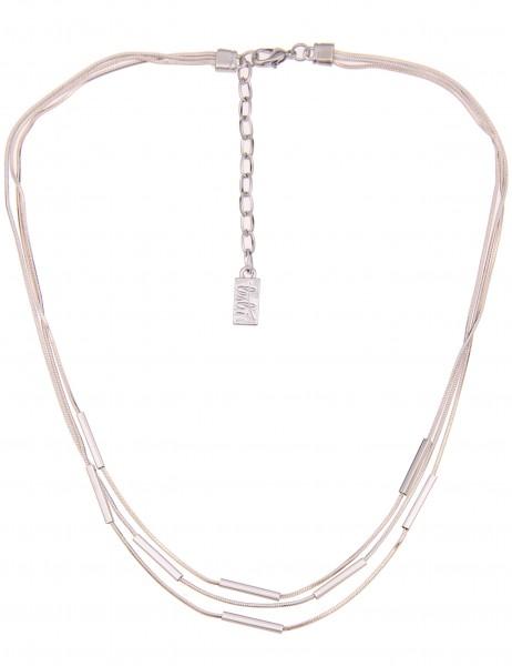 Leslii Damen-Kette Glanz Stäbe Silber Weiß Hochglanz Metalllegierung 43cm + Verlängerung 210116583