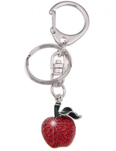 -50% SALE Leslii Schlüssel-Anhänger Glitzer Apfel Rot | Damen-Accessoires Mode-Schmuck | Größe: 7,8c
