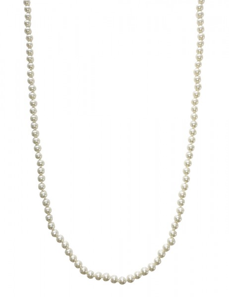 Leslii Damenkette weiße Perlen-Kette XXL Wickel-Kette Muschelkern-Perlen lange Halskette weiße Modes