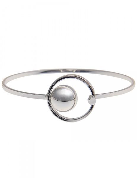 Leslii Damen-Armband Armreif Ring-Kugel Silber Metalllegierung Länge: 19cm 260115898