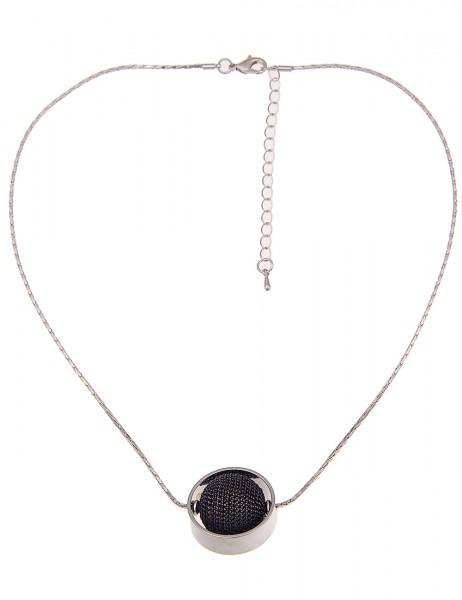 Leslii Damen-Kette Ketten-Kugel Silber Blau Metalllegierung 46cm + Verlängerung 210117099