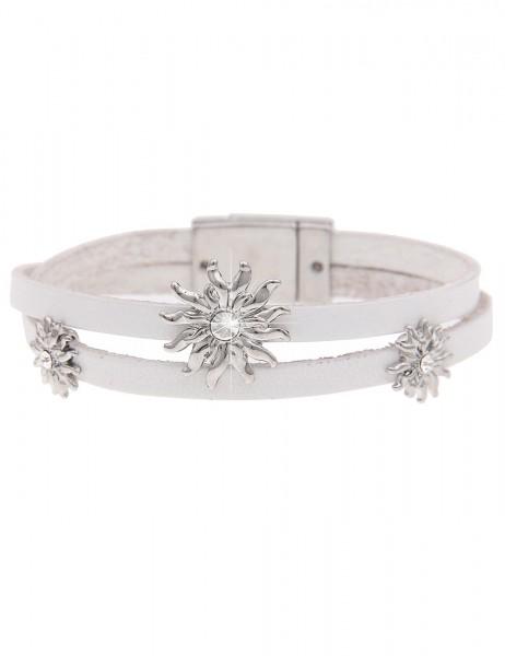 -70% SALE Leslii Armband Oktoberfest Edelweiß Weiß | Damen-Armband Mode-Schmuck | Länge: 19,5cm Magn