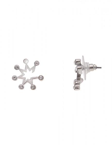 -50% SALE Leslii Damenohrringe Ohrstecker Sternenregen aus Metalllegierung mit Strass Größe 1,4cm in