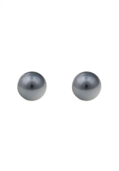 -50% SALE Leslii Ohrringe Ohrstecker Perlen in Grau