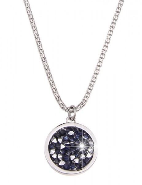Leslii Damen-Kette Twinkle Silber Blau Metalllegierung Strass 91cm + Verlängerung 220513617