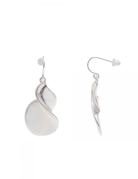 Leslii Damen-Ohrringe Ohrhänger Swing Matt Silber Metalllegierung 4cm 230116009