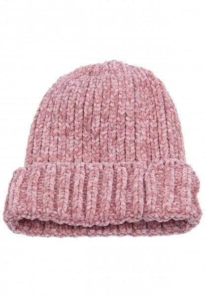 -50% SALE Leslii Damen Mütze Winter Strickmuster aus Polyester Größe One Size in Rosa