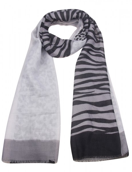 Leslii Damen-Schal Animal-Print Zebra-Muster Leo-Muster leichter Sommer-Schal langer Schal Statement