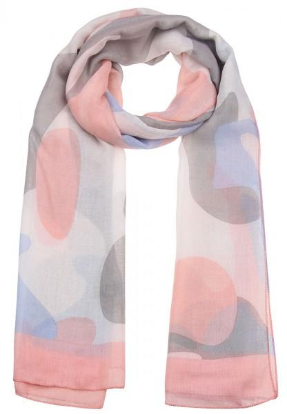 -50% SALE Leslii Schal Farbenfroh Rosa Grau | Trendiger Damen-Schal | Mode-Accessoire | 180cm x 87cm