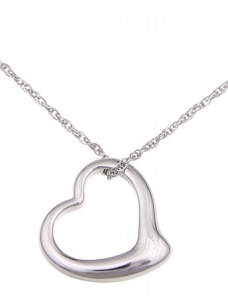 Leslii Halskette Romantik Silber   kurze Damen-Kette Mode-Schmuck   45cm + Verlängerung