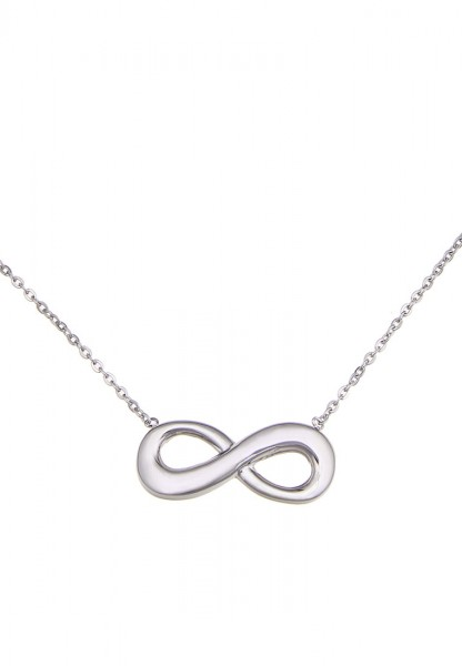 -50% SALE Leslii Premium Quality Halskette Endless Edelstahl | moderne Damen-Kette | Länge: 46,5cm +