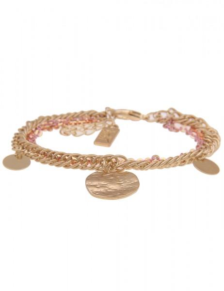 Leslii Damenarmband Festival Schmuck Gliederarmband mehrfach Armschmuck goldenes Modeschmuck-Armband