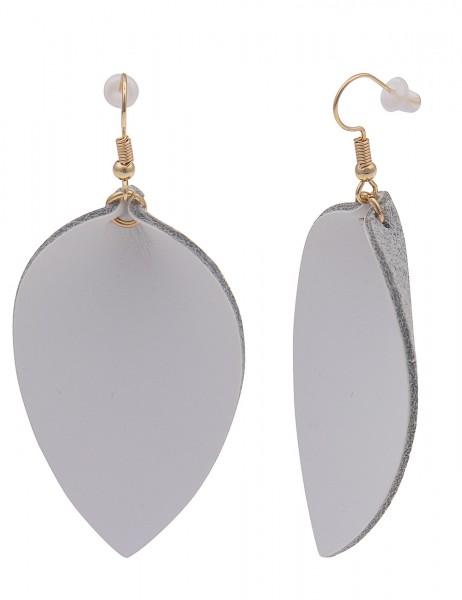 Leslii Damenohrringe Ohrhänger Blättertanz aus Metalllegierung mit Lederimitat Länge 6,8cm in Gold W