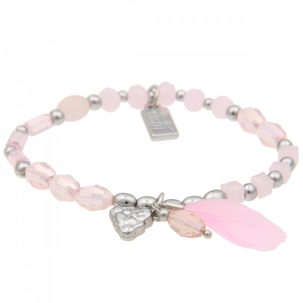 - 50% SALE Armband Mix & Match Buddha Rosa