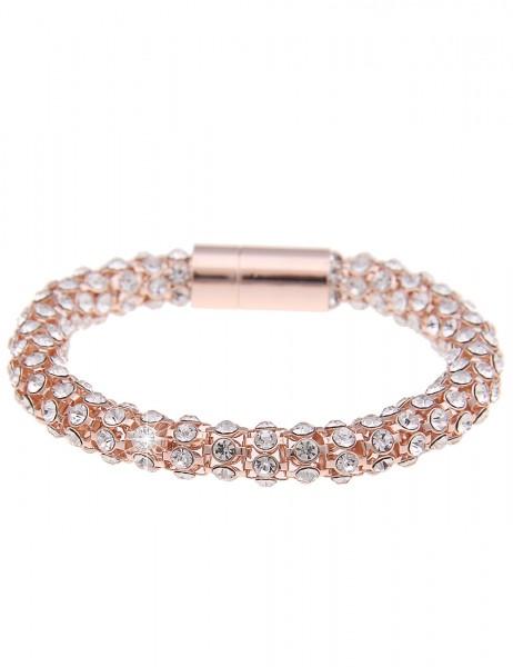-70% SALE Leslii Armband Glitzer Celebration Rosé | Damen-Armband Mode-Schmuck | Länge: 20cm mit Mag