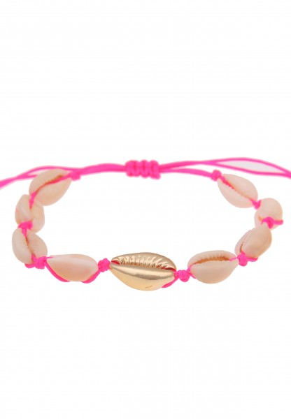 Leslii Damenarmband Muschel Muschelschmuck Sommer Strand Modeschmuck-Armband Länge 19cm in Beige Neo