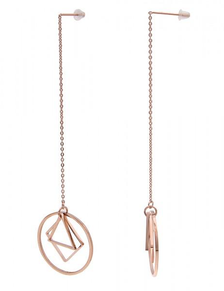 Leslii Damenohrringe Ohrhänger Formen aus Metalllegierung Länge 9,5cm in Rosé