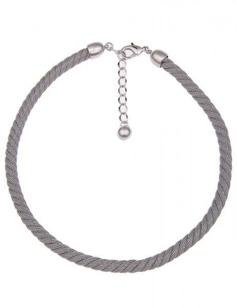 -70% SALE Leslii Damen-Kette Premium Quality Mesh Swirl Metalllegierung 46cm + Verlängerung 21011560