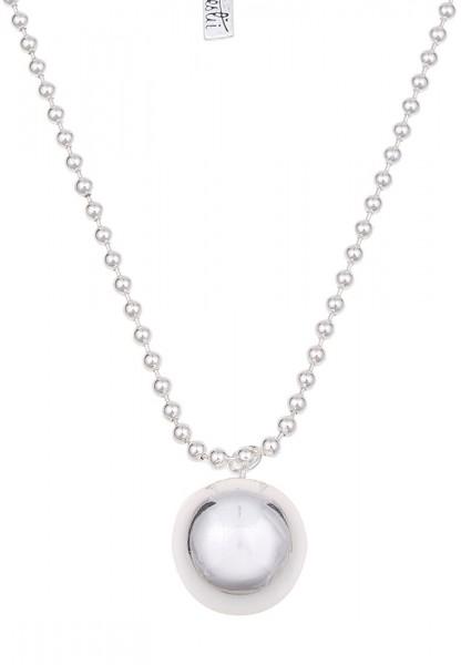 Lange Halskette Big Ball Silber