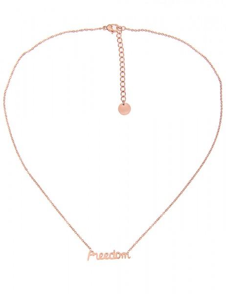 Leslii 4teen Damenkette Freedom aus Metalllegierung Länge 38cm in Rosé