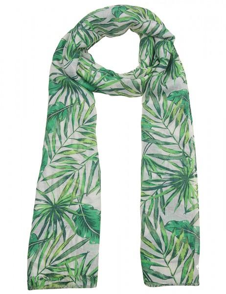 Leslii Damen Schal Tropen Wald aus Polyester Größe 180cm x 90cm in Grün 900117834