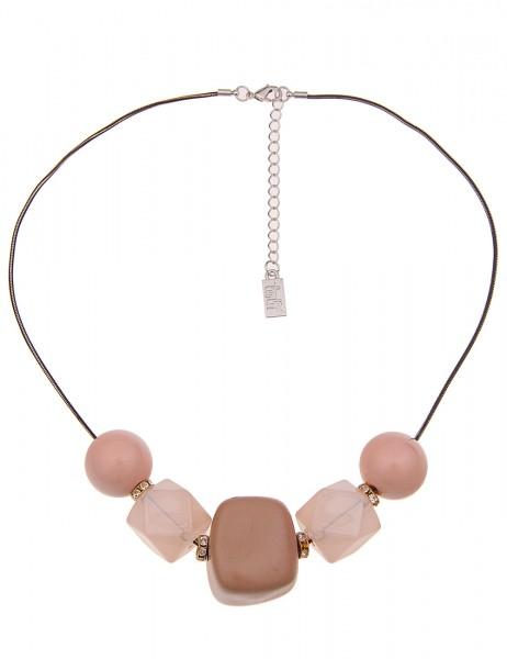 Leslii Damenkette Stone Look Statementkette Collier Halskette Modeschmuck-Kette Länge 46cm in Gold B