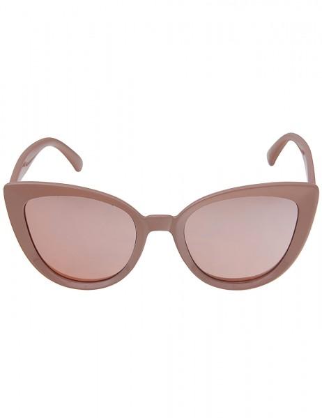 Leslii Sonnenbrille Damen Cateye-Brille Katzenaugen Designerbrille Sunglasses in Altrosa Kunststoff