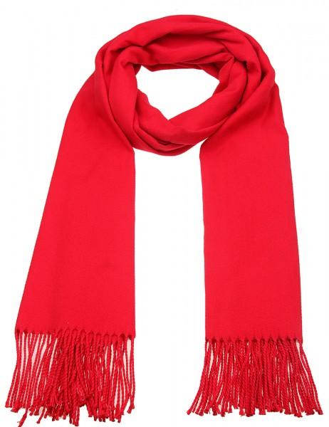 -50% SALE Leslii Damenschal Uni Trend 100% Polyester 184cm x 71cm Rot 900217147