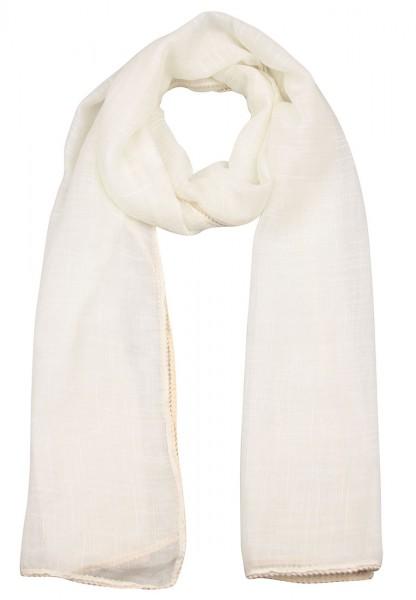 -50% Leslii Schal Uni Geflochten Wollweiß Beige | Trendiger Damen-Schal | Mode-Accessoire | 180cm x
