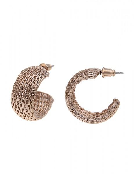 -70% SALE Leslii Damen-Ohrringe Premium Quality Mesh-Look Metalllegierung 2,5cm 230315625