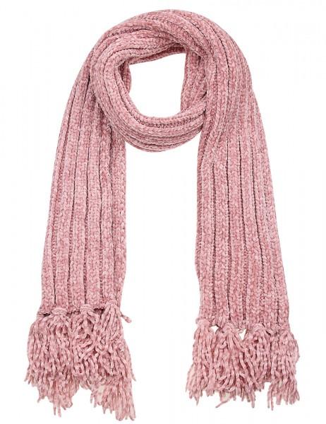 -50% SALE Leslii Damen Schal Strick Muster aus Polyester Größe 160cm x 24cm in Rosa 900217118