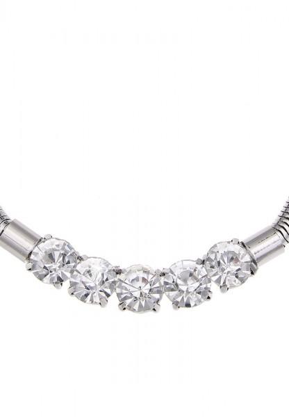 -70% SALE Leslii Funkelzauber Silber | Trendige kurze Kette | Damen Mode-Schmuck | 45cm + Verlängeru