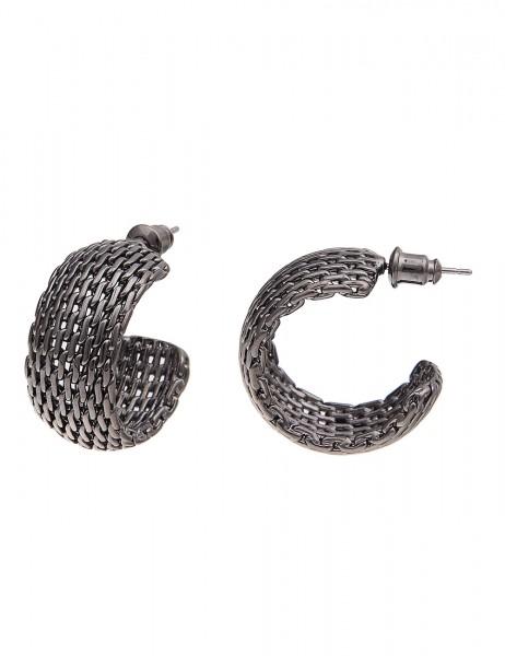 -70% SALE Leslii Damen-Ohrringe Premium Quality Mesh-Look Metalllegierung 2,5cm 230215625